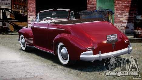 Chevrolet Special DeLuxe 1941 para GTA 4 Vista posterior izquierda