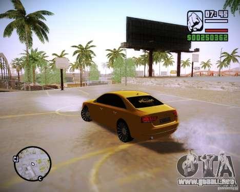 Audi A8 para GTA San Andreas left