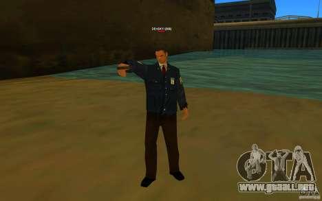 HQ skin FBI para GTA San Andreas segunda pantalla