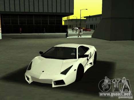 Lamborghini Reventon para vista lateral GTA San Andreas