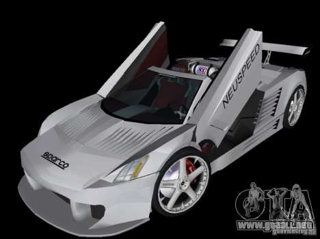Cadillac Cien Shark Dream TUNING para GTA Vice City vista posterior