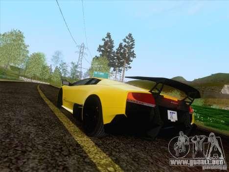 Lamborghini Murcielago LP670–4 SuperVeloce para GTA San Andreas left