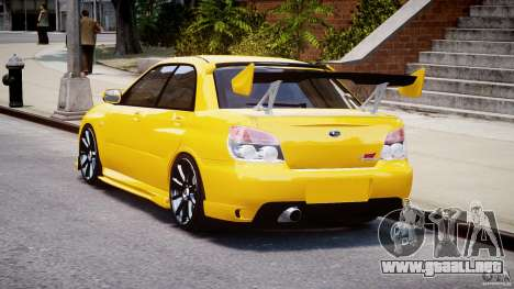 Subaru Impreza STI para GTA 4 Vista posterior izquierda