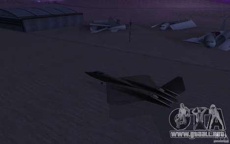 YF-23 para GTA San Andreas left