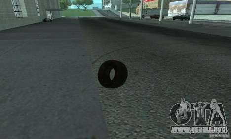 Neumáticos para GTA San Andreas vista posterior izquierda