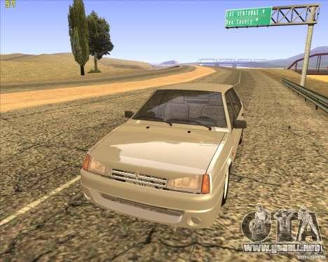 VAZ 2109 Tuning para GTA San Andreas vista hacia atrás