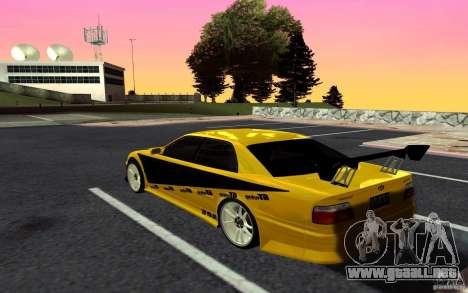 Toyota Chaser JZX100 para GTA San Andreas vista posterior izquierda
