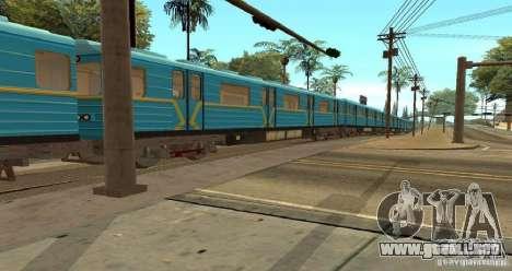 Metro tipo erizo para GTA San Andreas vista hacia atrás
