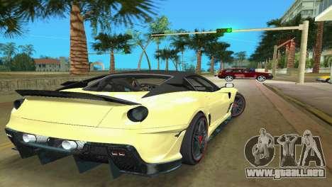 Ferrari 599XX para GTA Vice City visión correcta