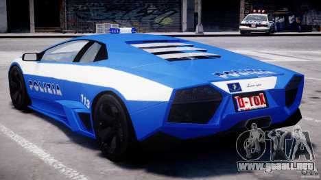 Lamborghini Reventon Polizia Italiana para GTA 4 interior