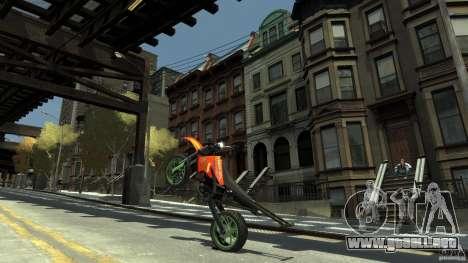 Stunt Supermotard Sanchez para GTA 4 vista hacia atrás