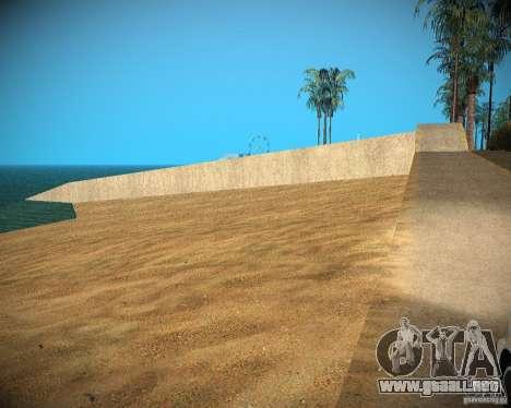 New textures beach of Santa Maria para GTA San Andreas sexta pantalla