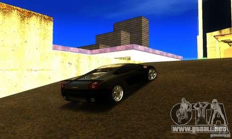 Lamborghini Gallardo para GTA San Andreas vista posterior izquierda