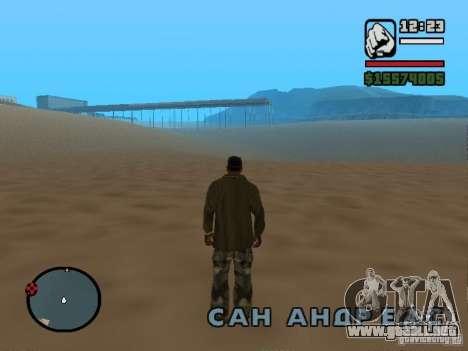 No hay agua para GTA San Andreas segunda pantalla