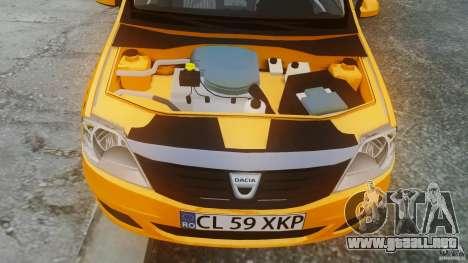 Dacia Logan Facelift Taxi para GTA 4 visión correcta