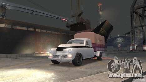 GAZ M20 Pickup para GTA 4 Vista posterior izquierda