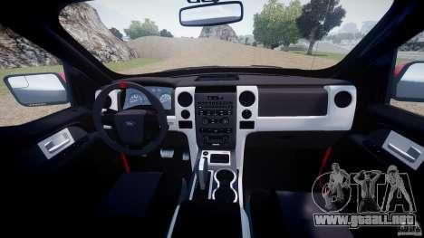 Ford F150 SVT Raptor 2011 para GTA 4 visión correcta
