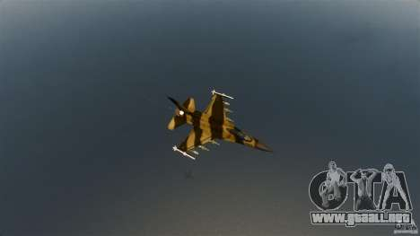F-16C Fighting Falcon para GTA 4 vista hacia atrás