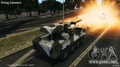 Stryker M1128 Mobile Gun System v1.0 para GTA 4 vista superior