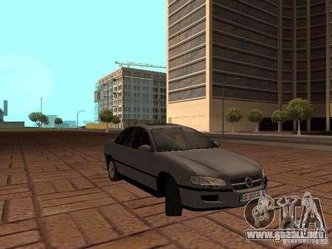 Opel Omega B 1998 v2 para GTA San Andreas vista hacia atrás