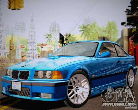BMW M3 E36 New Wheels para GTA San Andreas vista posterior izquierda