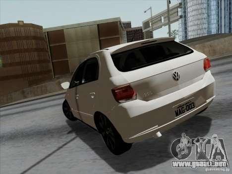 Volkswagen Golf G6 v3 para GTA San Andreas vista posterior izquierda