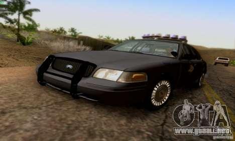 Ford Crown Victoria Kentucky Police para GTA San Andreas