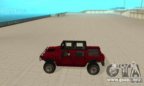 Hummer Civilian Vehicle 1986 para GTA San Andreas left