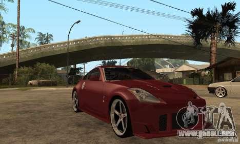 Nissan 350Z JC2 para GTA San Andreas vista hacia atrás
