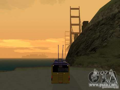 Trolebús LAZ e-183 para GTA San Andreas vista posterior izquierda