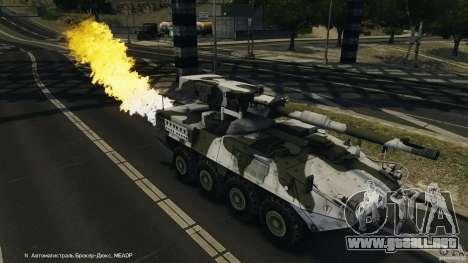 Stryker M1128 Mobile Gun System v1.0 para GTA 4 interior
