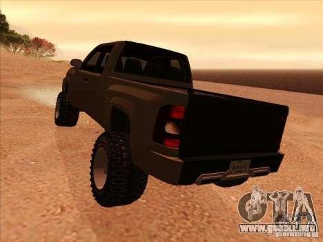 Chevrolet Silverado ZR2 para la visión correcta GTA San Andreas