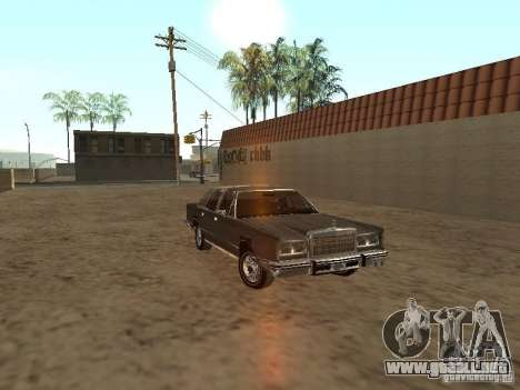 Lincoln Town Car 1986 para GTA San Andreas vista hacia atrás