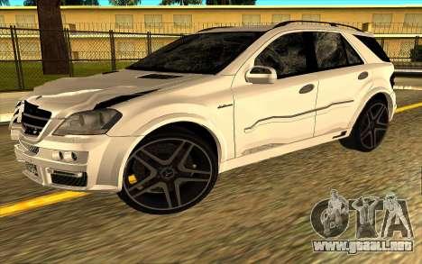 Mercedes-Benz ML63 AMG W165 Brabus para GTA San Andreas interior