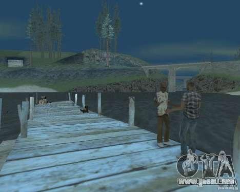 La animada playa de Palomino Creek para GTA San Andreas segunda pantalla
