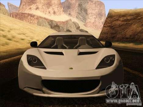 Lotus Evora para la vista superior GTA San Andreas