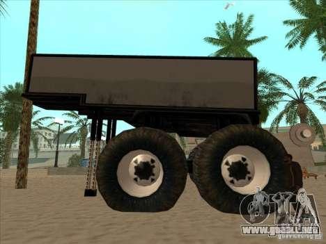 Remolque para el carro Monsterous para la visión correcta GTA San Andreas