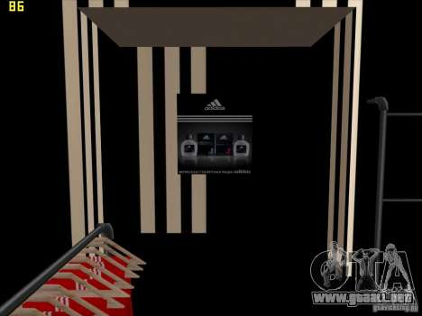 Reemplazo total de la tienda Binco Adidas para GTA San Andreas novena de pantalla