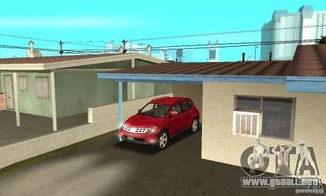 Nissan Murano 2004 para vista lateral GTA San Andreas
