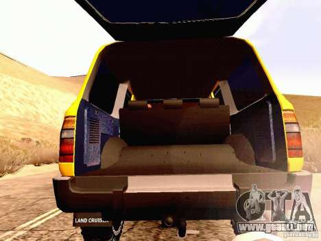 Toyota Land Cruiser 80 Off Road Rims para visión interna GTA San Andreas