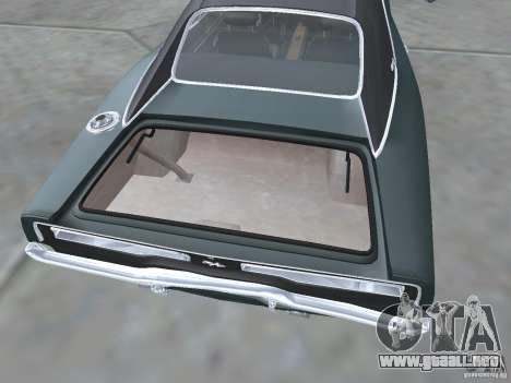 Dodge Charger 1969 para visión interna GTA San Andreas