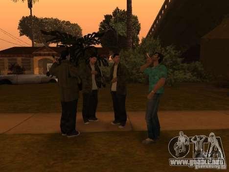 Los Santos Protagonists para GTA San Andreas sucesivamente de pantalla