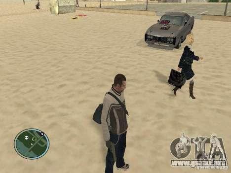 Pedy con bolsos y teléfonos para GTA San Andreas