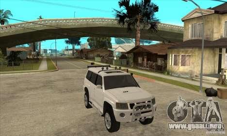 Nissan Patrol 2005 para GTA San Andreas vista hacia atrás