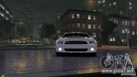 Ford Shelby Mustang GT500 2011 v2.0 para GTA 4 left