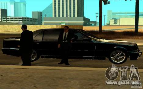 Mercedes-Benz S600L 1998 para vista lateral GTA San Andreas