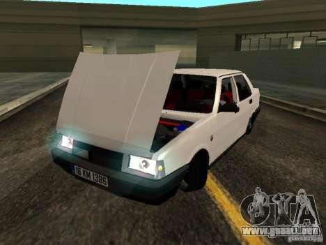 Tofas Sahin DRIFT para GTA San Andreas vista hacia atrás