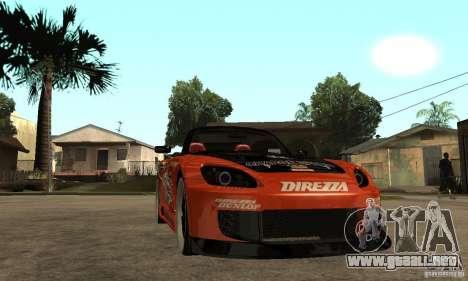 Honda S2000 CHARGESPEED para GTA San Andreas vista hacia atrás
