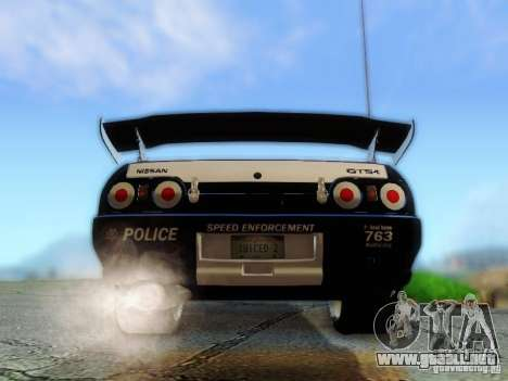 Nissan Skyline R32 Police para visión interna GTA San Andreas