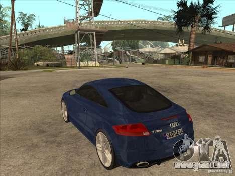 Audi TT RS 2010 para GTA San Andreas vista posterior izquierda